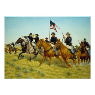The Battle of Prairie Dog Creek by Ralph Heinz Poster