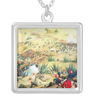 The Battle of Puebla, 5 May 1862 Square Pendant Necklace