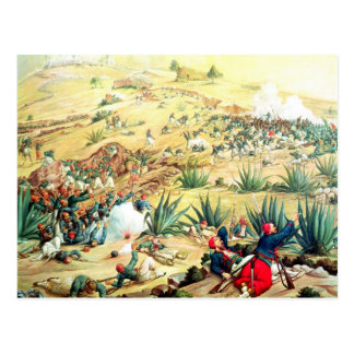 The Battle of Puebla, 5 May 1862 Postcard