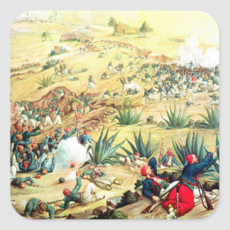 The Battle of Puebla, 5 May 1862 Square Sticker