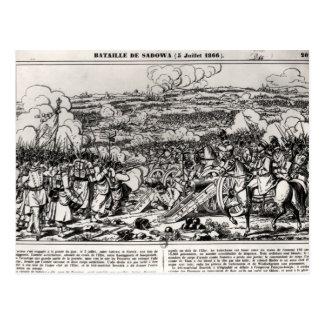 The Battle of Sadowa, 3rd July 1866 Postcard