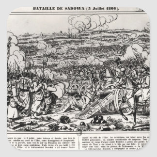 The Battle of Sadowa, 3rd July 1866 Square Sticker