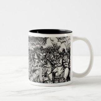 The Battle of Sadowa, 3rd July 1866 Two-Tone Coffee Mug