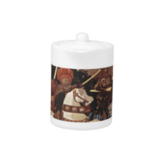 The Battle of San Romano by Paolo Uccello Teapot