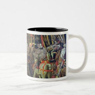 The Battle of San Romano in 1432, c.1456 Two-Tone Coffee Mug