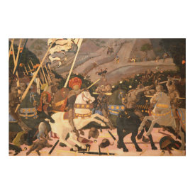 The Battle of San Romano Wood Wall Art