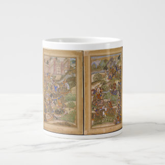 The Battle of Sarnal Gujarat 1572 from Akbarnama Giant Coffee Mug