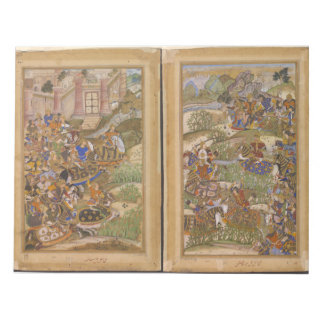 The Battle of Sarnal Gujarat 1572 from Akbarnama Notepad