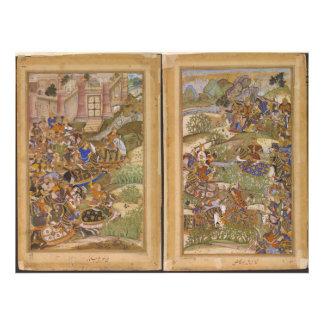 The Battle of Sarnal Gujarat 1572 from Akbarnama Photo Print