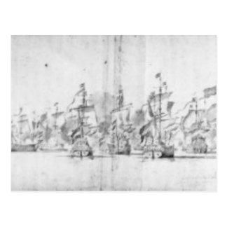 The Battle of Solebay, 28th May 1672 Postcard