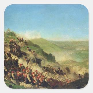 The Battle of Solferino, 24th June 1859 Square Sticker