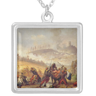 The Battle of Solferino Silver Plated Necklace