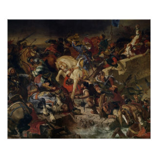 The Battle of Taillebourg, 21st July 1242, 1837 Poster