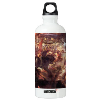 The Battle of Taro by Tintoretto Aluminum Water Bottle