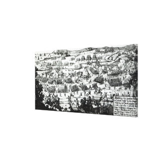 The Battle of the Boyne, c.1690 Canvas Print
