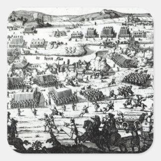 The Battle of the Boyne, c.1690 Square Sticker