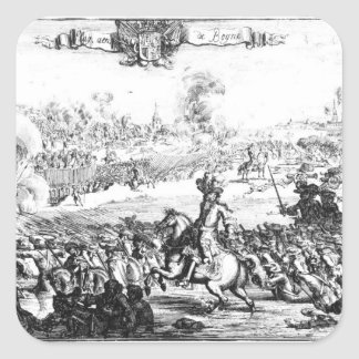 The Battle of the Boyne, July 1st 1690 Square Sticker