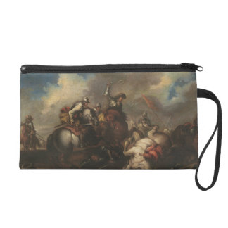The Battle of the Cavaliers (oil on canvas) Wristlet Purses