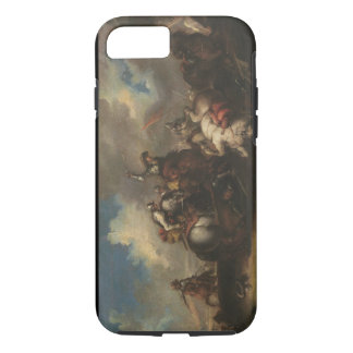 The Battle of the Cavaliers (oil on canvas) iPhone 7 Case