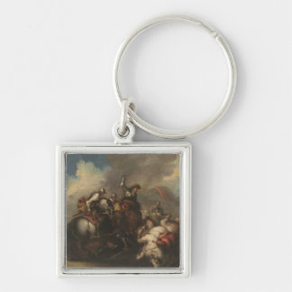 The Battle of the Cavaliers (oil on canvas) Keychain