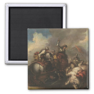 The Battle of the Cavaliers (oil on canvas) Magnet