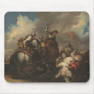 The Battle of the Cavaliers (oil on canvas) Mouse Pad