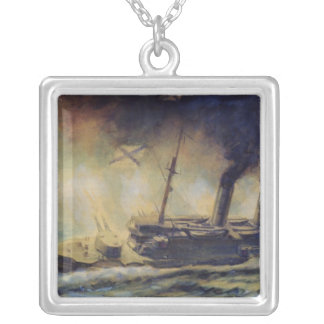The Battle of the Gulf of Riga, August 1915, 1940 Silver Plated Necklace