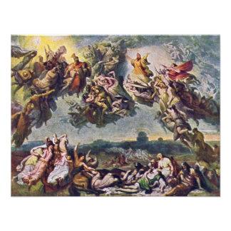 The Battle Of The Huns By Wilhelm Von Kaulbach Announcement