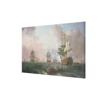 The Battle of the Nile Canvas Print
