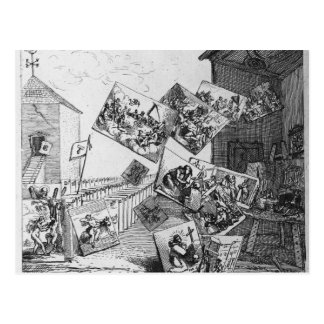 The Battle of the Pictures, 1745 Postcard
