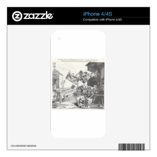The Battle of the Pictures by William Hogarth iPhone 4 Decals