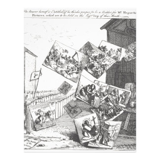 The Battle of the Pictures by William Hogarth Letterhead