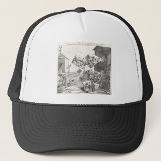 The Battle of the Pictures by William Hogarth Trucker Hat