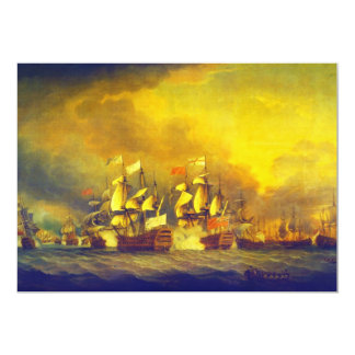 The Battle of the Saintes by Thomas Mitchell 1782 Card