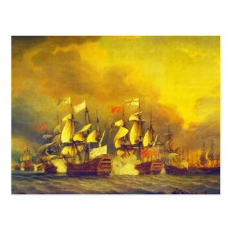 The Battle of the Saintes by Thomas Mitchell 1782 Post Card