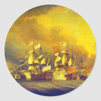 The Battle of the Saintes by Thomas Mitchell 1782 Sticker