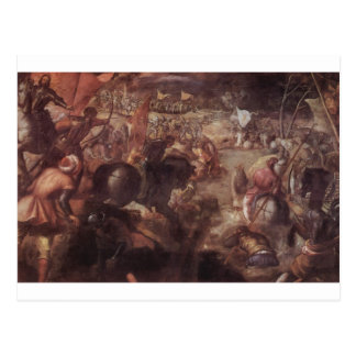 The battle of the Taro by Tintoretto Postcard