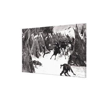 The Battle of the Washita Canvas Print