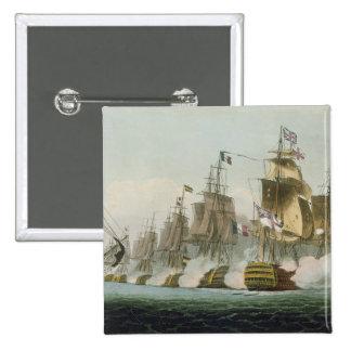 The Battle of Trafalgar, 21st October 1805, engrav 2 Inch Square Button