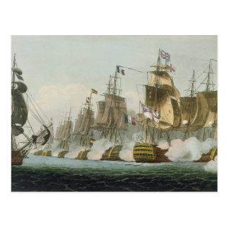 The Battle of Trafalgar, 21st October 1805, engrav Postcard