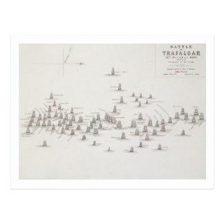 The Battle of Trafalgar, 21st October 1805, Positi Postcard