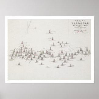 The Battle of Trafalgar, 21st October 1805, Positi Poster