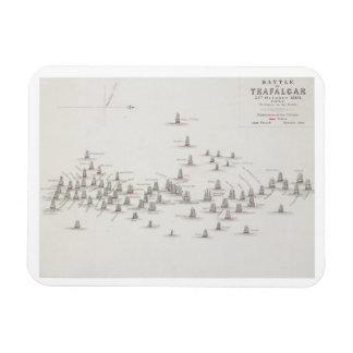 The Battle of Trafalgar, 21st October 1805, Positi Rectangular Photo Magnet