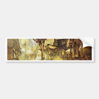 The Battle Of Trafalgar By Steuerbordbesanwanten Car Bumper Sticker