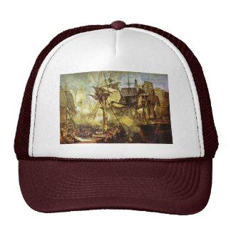 The Battle Of Trafalgar By Steuerbordbesanwanten Trucker Hat