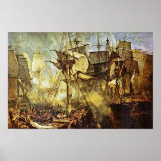 The Battle Of Trafalgar By Steuerbordbesanwanten Poster