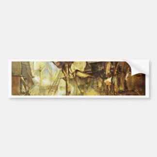 The Battle Of Trafalgar By Steuerbordbesanwanten V Car Bumper Sticker