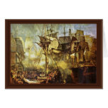 The Battle Of Trafalgar By Steuerbordbesanwanten V Greeting Card