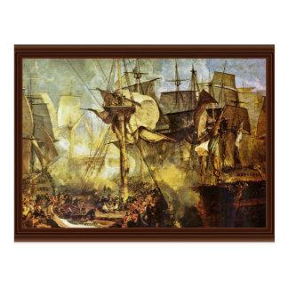 The Battle Of Trafalgar By Steuerbordbesanwanten V Postcard