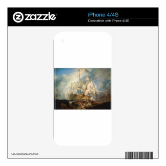 The Battle of Trafalgar by William Turner iPhone 4 Skins